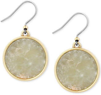 Lucky Brand Gold-Tone Stone Circle Drop Earrings