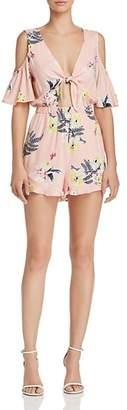 BB Dakota Skylar Floral Cold-Shoulder Romper