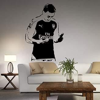 Aiwall Football Star Football Planet Sofa Wall Stickers Mesut Ozil
