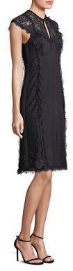 Nanette Lepore Lace Applique Empire Waist Dress $448 thestylecure.com