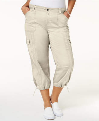 Style & Co Plus Size Capri Cargo Pants, Created for Macy's $29.98 thestylecure.com