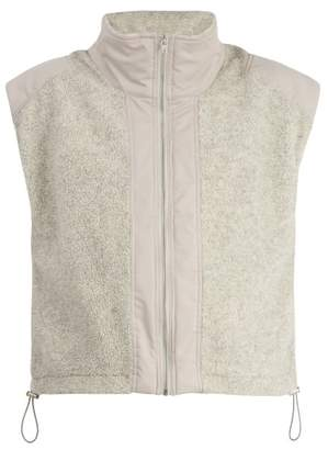 Blend of America GMBH Gmbh - Mathis Technical Contrast Paneled Wool Gilet - Mens - Grey