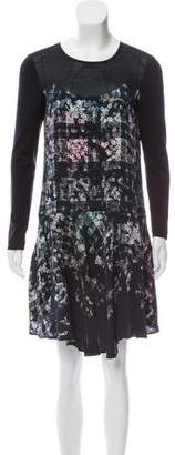 Tibi Printed Long Sleeve Dress