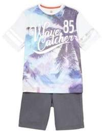 F&F Wave Catcher T-Shirt And Shorts Set 13-14 years