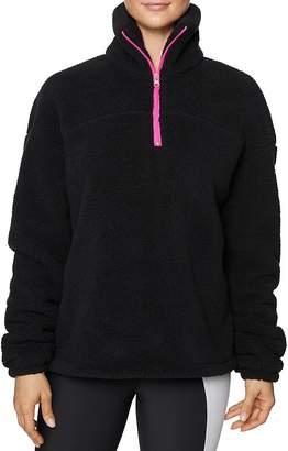 Betsey Johnson Half-Zip Fleece Jacket