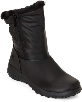 totes Black Rikki Faux Fur Snow Boots