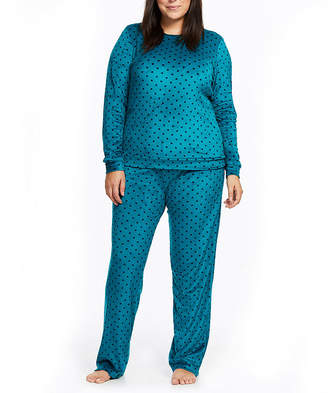 Gloria Vanderbilt Womens-Plus Pant Pajama Set 2-pc. Long Sleeve