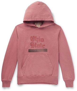 Remi Relief Ohio State Printed Loopback Cotton-Jersey Hoodie