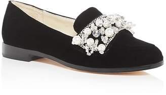 Bettye Muller Women's Revel Embellished Velvet Loafers