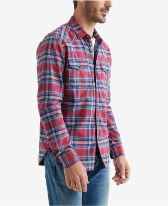 Lucky Brand Men Santa Fe Plaid Shirt