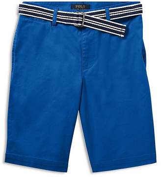 Polo Ralph Lauren Boys' Slim-Fit Belted Stretch Shorts - Big Kid