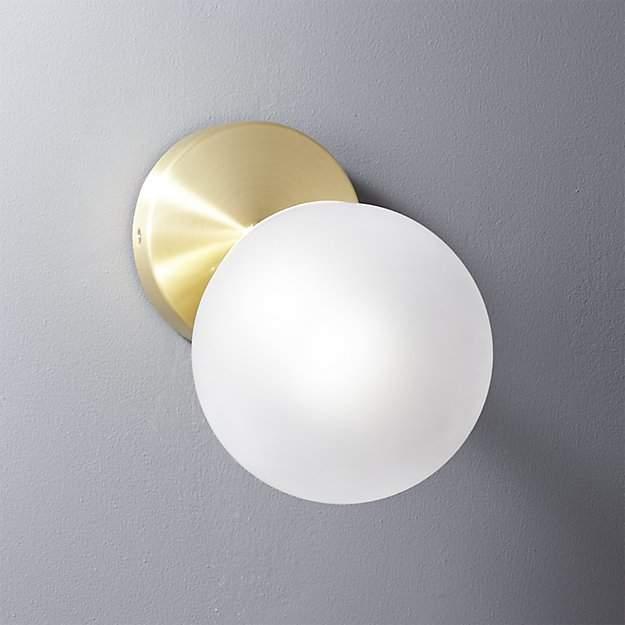 Vega Bath 1 Bulb Brass Wall Sconce