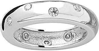 Sterling Forever Women's Sterling Silver & Cubic Zirconia Etoile Band Ring