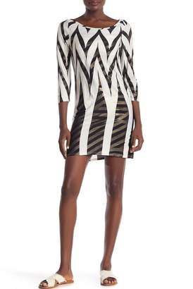 Jordan Taylor Patterned Boatneck Tunic Dress