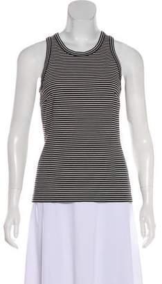 Cédric Charlier Sleeveless Striped Top