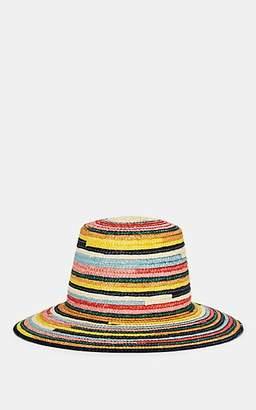 Eugenia Kim Women's Stevie Rainbow-Striped Straw Sun Hat