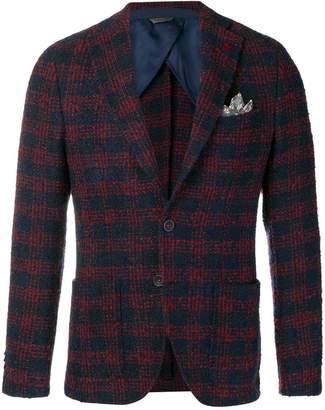 Manuel Ritz checked woven blazer