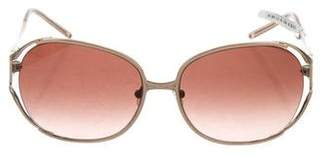 Judith Leiber Embellished Gradient Sunglasses w/ Tags