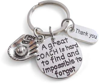 Coach JewelryEveryday Baseball Gift, Appreciation Gift, A Great is Impossible to Forget