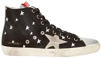 Golden Goose Francy Cosmo High-Top Canvas Sneakers