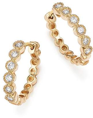Bloomingdale's Diamond Milgrain Bezel Hoop Earrings in 14K Yellow Gold, .25 ct. t.w. - 100% Exclusive