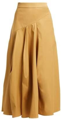 Palmer Harding Palmer//Harding Palmer//harding - A Line Cotton Blend Skirt - Womens - Camel