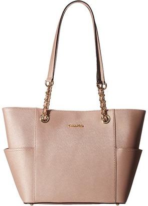 Calvin Klein Key Item Saffiano Leather Tote $178 thestylecure.com