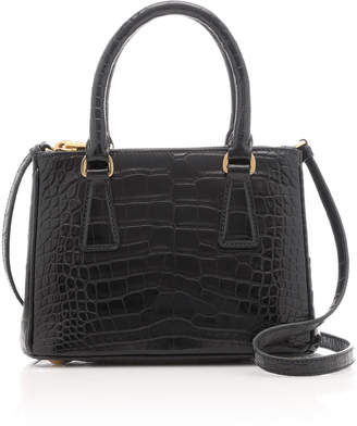 Prada Galleria Mini Crocodile Tote