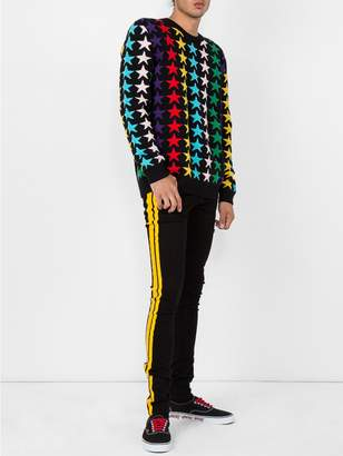 Gucci Rainbow star intarsia sweater