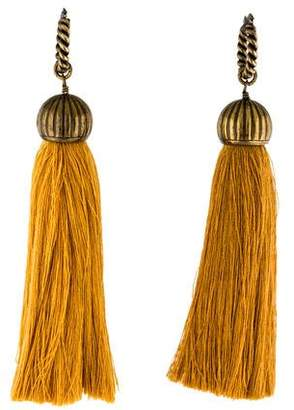 Lanvin Enameled Bi-Color Tassel Earrings