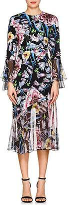 Prabal Gurung Women's Floral Silk Dress - Black Floral