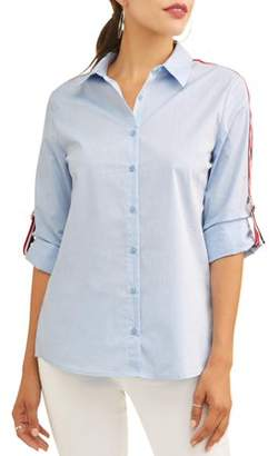 Como Blu Women's Athletic Trim Shirt