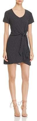 Three Dots Polka-Dot Mini Dress