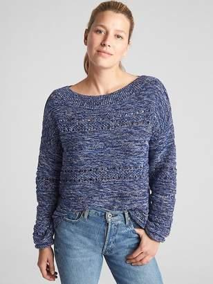 Gap Textured Wide-Neck Pullover Sweater