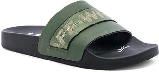 Off-White Off White Industrial Slider in Military Green | FWRD