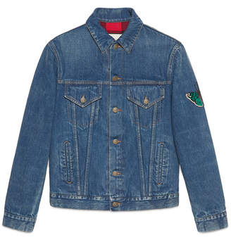Denim jacket with embroideries $1,850 thestylecure.com