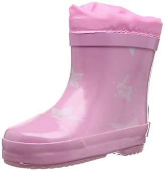 Playshoes GmbH Unisex Kids' Short Wellies Warm Lining Stars Wellington Boots,27 EU