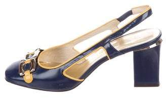 Marc Jacobs Patent Leather Slingback Pumps