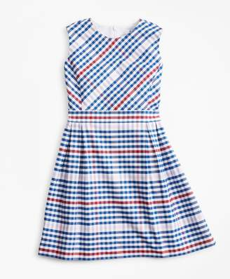 Brooks Brothers Girls Cotton Oxford Gingham Dress