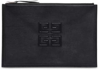 Givenchy Large 4g Logo Leather Pouch