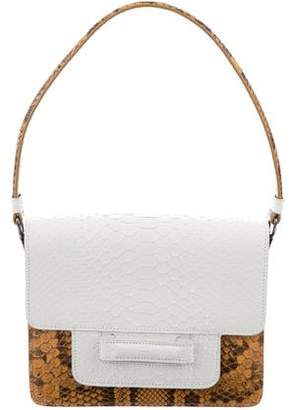 Valextra Snakeskin Shoulder Bag