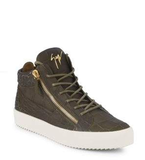 Giuseppe Zanotti Colorblock Leather Mid-Top Sneakers