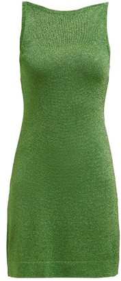Missoni Sleeveless Lame Mini Dress - Womens - Green