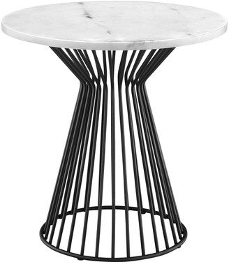Madison Park Keaton Marble Top End Table