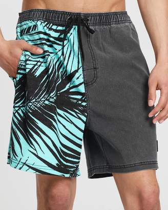 Rusty Night Palm Elastic Boardshorts