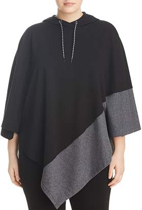 Andrew Marc Performance Plus Color-Block Knit Poncho