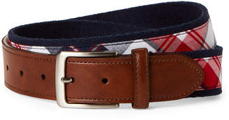 Tommy Hilfiger Navy Woven Plaid Belt
