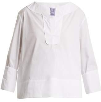 Thierry Colson Samira Cotton Poplin Top - Womens - White
