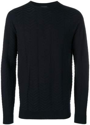 Giorgio Armani chevron-knit jumper