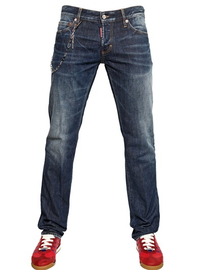 DSquared 19cm Denim With Chain Slim Fit Jeans